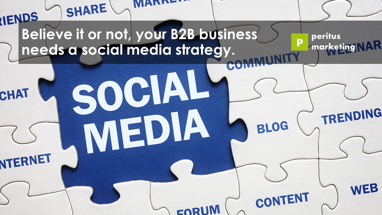 Your B2B business needs a social media strategy.